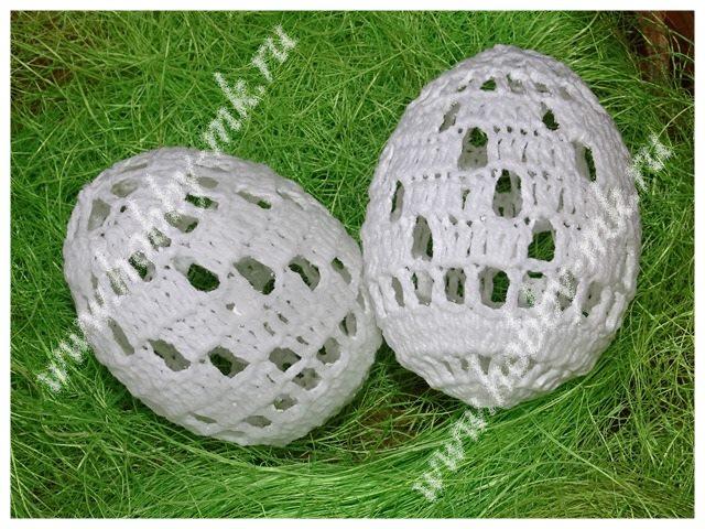 Ажурное яйцо крючком