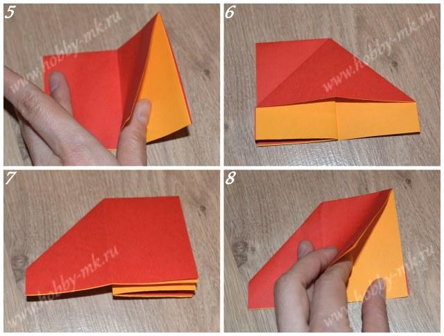 Как сделать бабочку в технике оригами, фото 5-8 из 17.