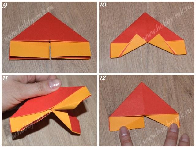 Как сделать бабочку в технике оригами, фото 9-12 из 17.