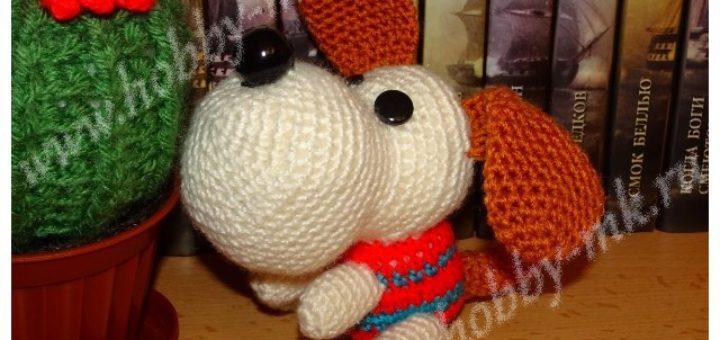 Амигуруми щенок крючком