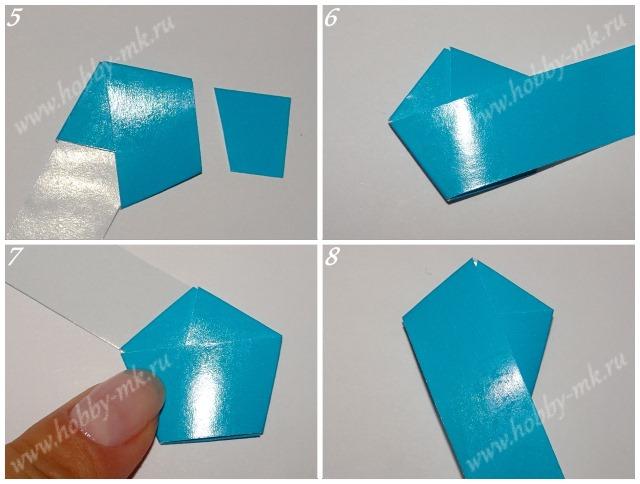 Как из полоски бумаги сделать звезду схема