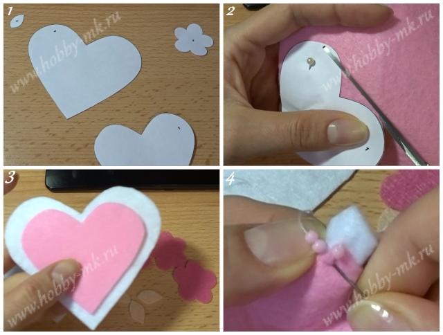 Как сделать валентинку из фетра ч.1