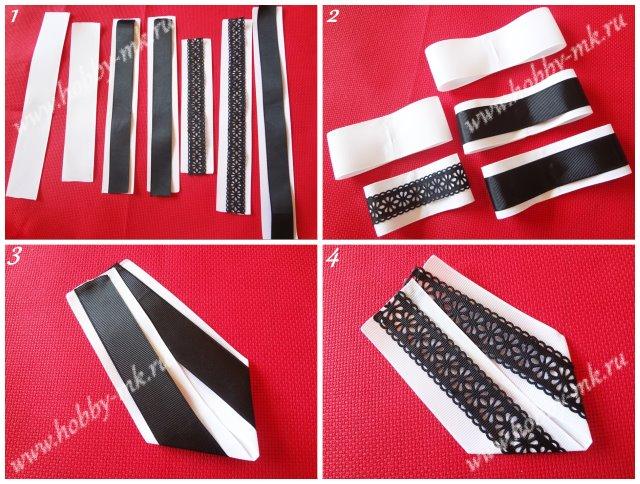 Как сделать галстук брошь ч.1