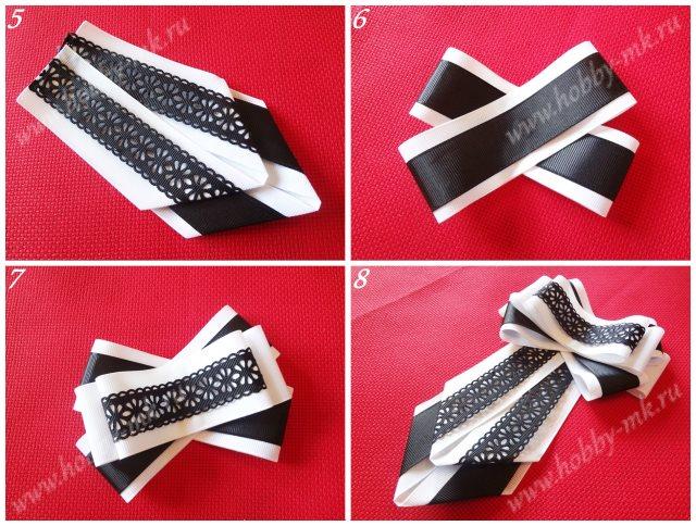 Как сделать галстук брошь ч.2