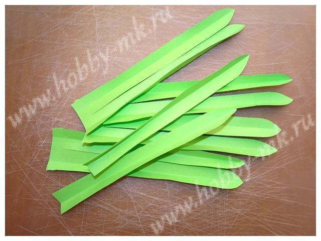 Как сделать гиацинт из бумаги ч.7