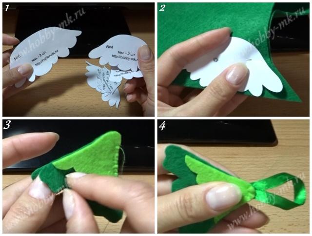 Как сделать елочку из фетра ч.1