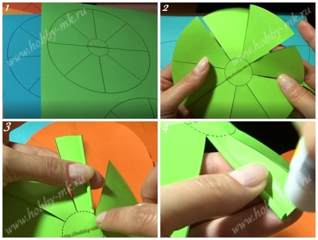 Как сделать колючий шар из бумаги ч.1