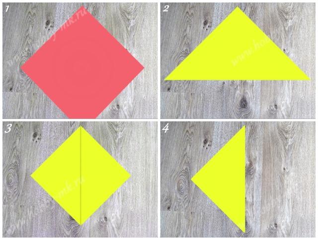 Как сделать курицу оригами ч.1