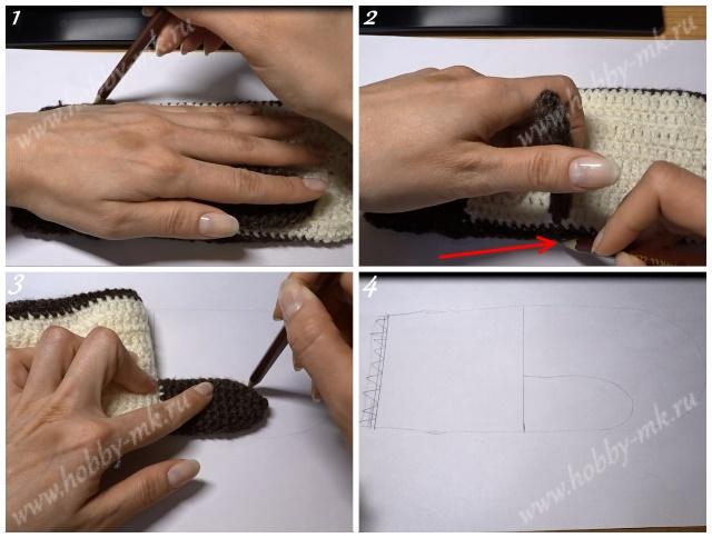 Как сделать подкладку в варежки ч.1