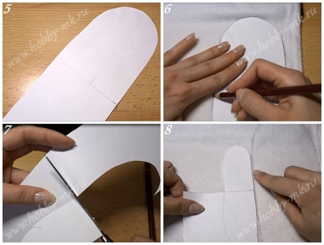 Как сделать подкладку в варежки ч.2