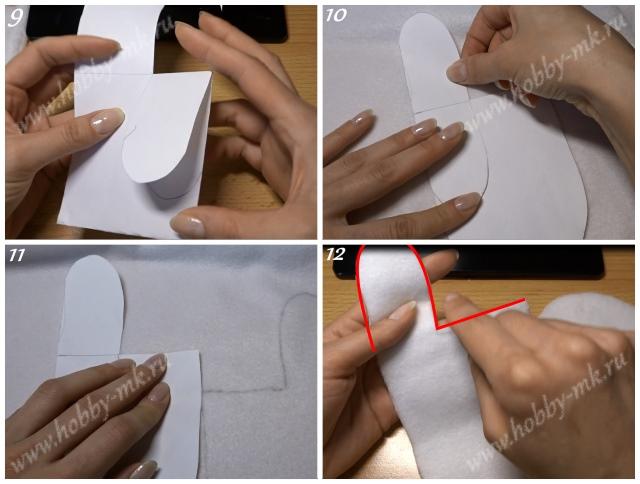 Как сделать подкладку в варежки ч.3