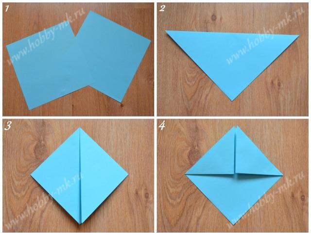Как сделать подставку оригами ч.1