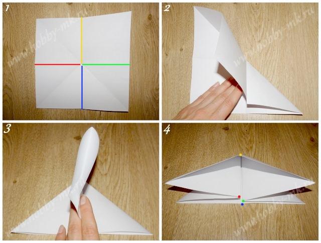Как сделать простую елочку из бумаги ч.1