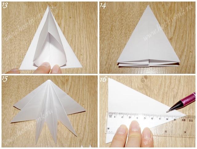 Как сделать простую елочку из бумаги ч.4
