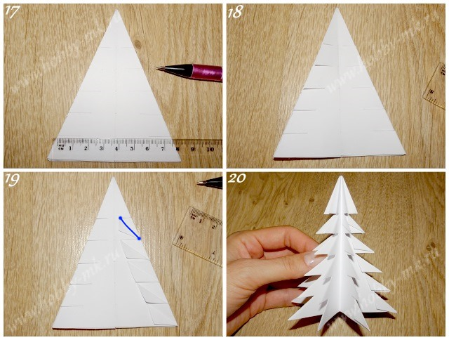 Как сделать простую елочку из бумаги ч.5