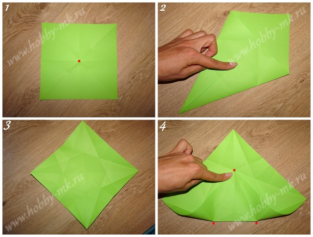 Как сделать рождественский венок оригами ч.1