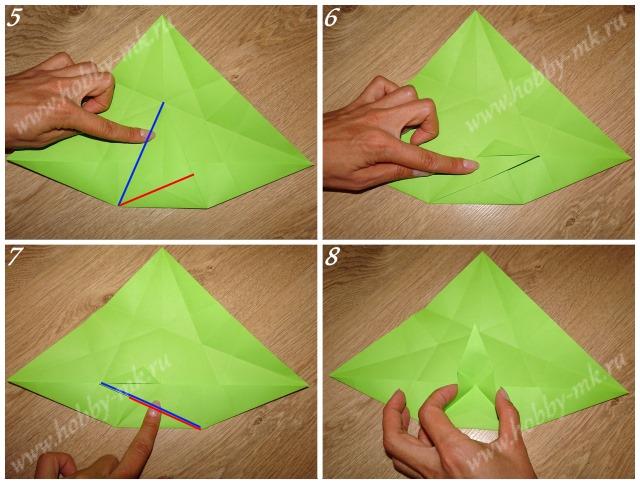 Как сделать рождественский венок оригами ч.2