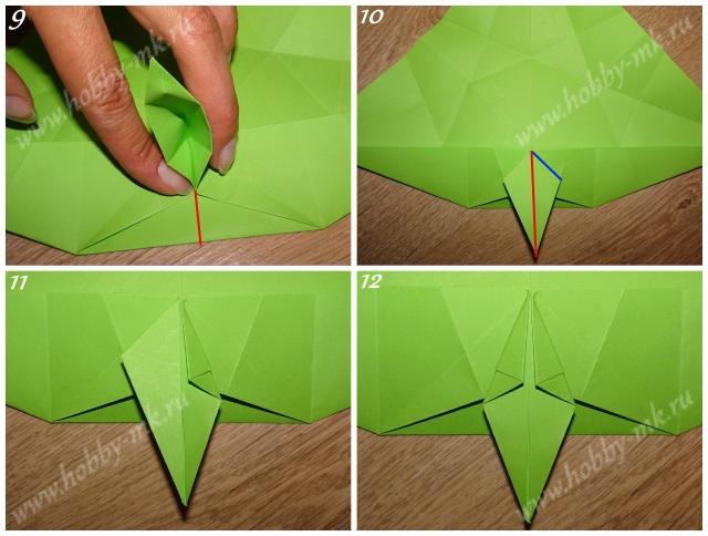 Как сделать рождественский венок оригами ч.3