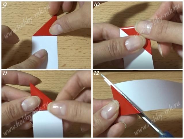 Как сделать сердечко из полоски бумаги ч.3