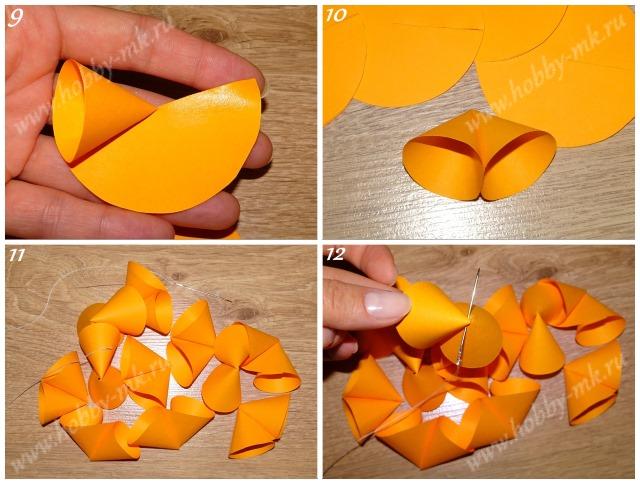 Как сделать шар из конусов ч.3