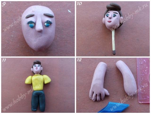 Как сделать человек из пластилина своими руками