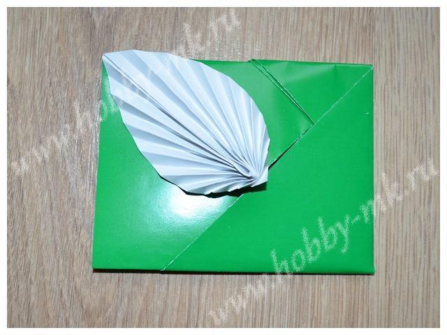Конверт из бумаги в технике оригами