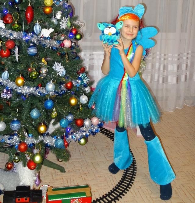 Карнавальный новогодний костюм Пони Радуга