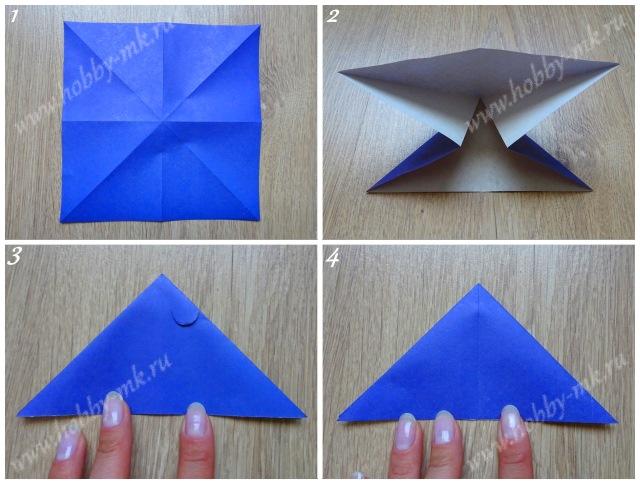 Как сделать летучую мышь оригами ч.1