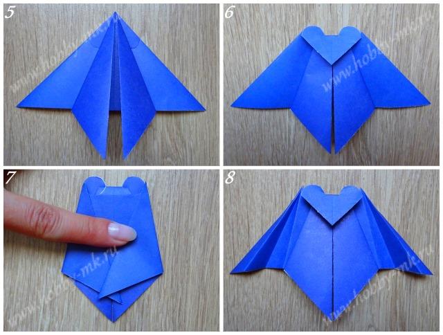 Как сделать летучую мышь оригами ч.2