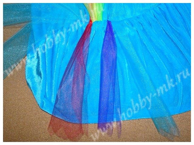 Перышки юбки из фатина