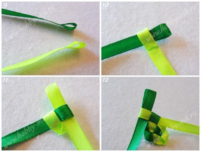 Плетем тесьму для декорирования основы ободка