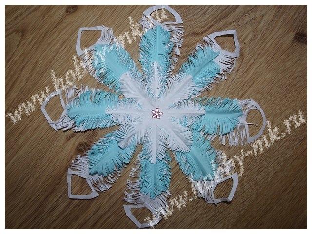 Снежинки из бумаги своими руками пушистые