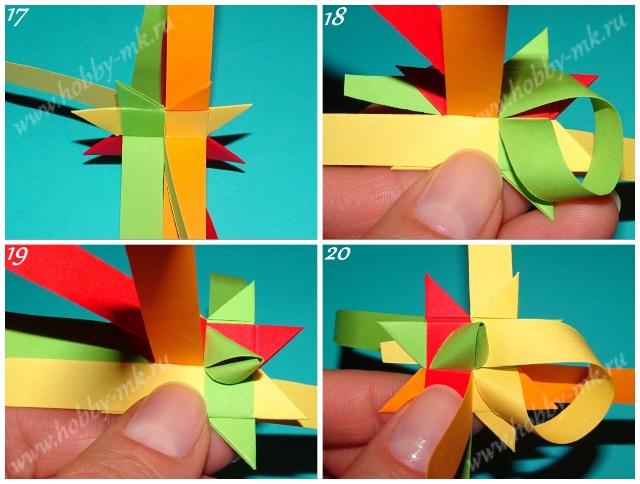 Рождественская звезда из бумажных полосок ч.5