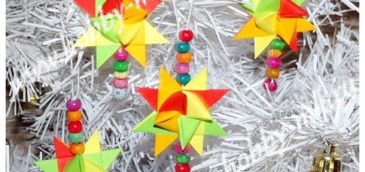 Рождественская звезда из бумажных полосок