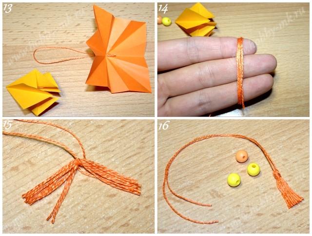 Как сделать сосульку на елку из бумаги ч.4