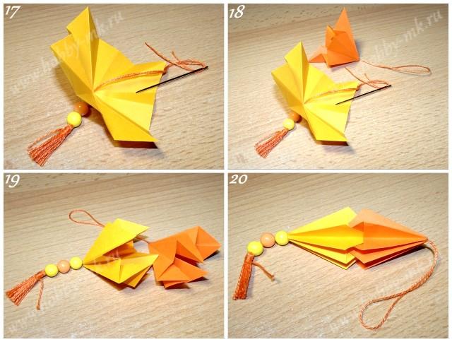 Как сделать сосульку на елку из бумаги ч.5