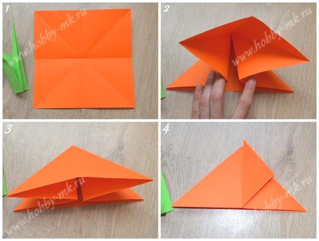 Тюльпан оригами поэтапно ч.1