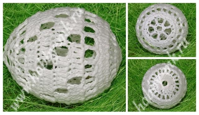 Филейное яйцо крючком