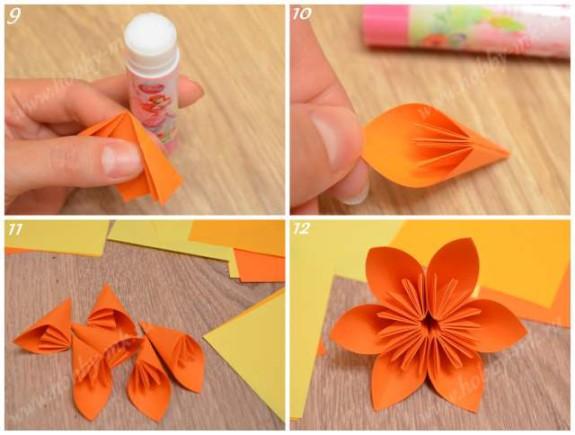 Цветы из офисной бумаги своими руками 126