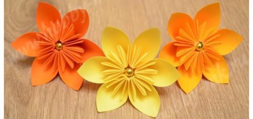 Цветы из офисной бумаги