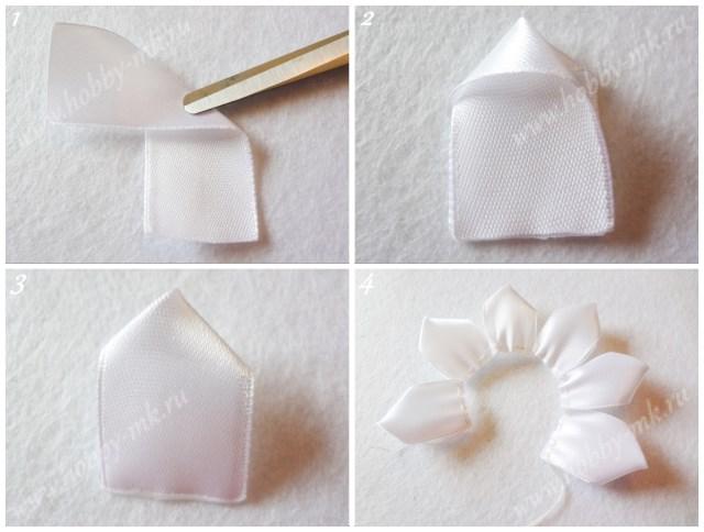 Белый слой лепестков кканзаши