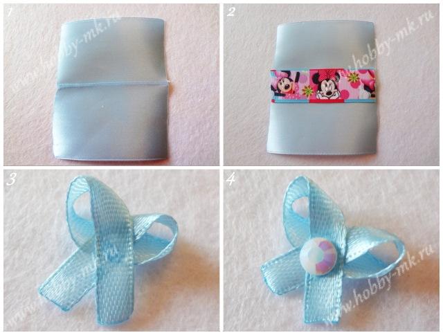 Как сделать конфетки из ленточек ч.1
