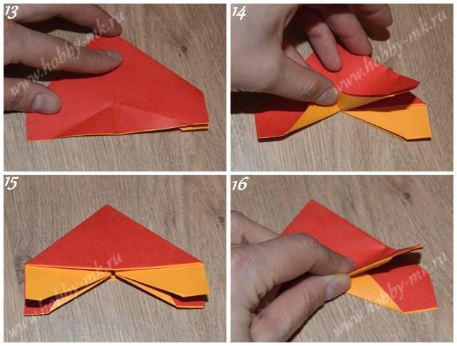 Как сделать бабочку в технике оригами, фото 13-16 из 17.