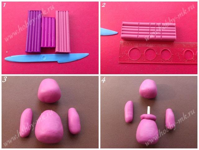 Как сделать Лунтика из пластилина ч.1
