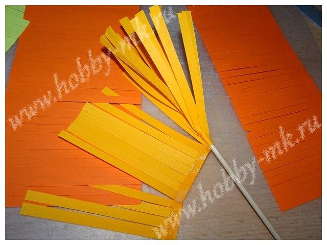 Как сделать гиацинт из бумаги ч.3