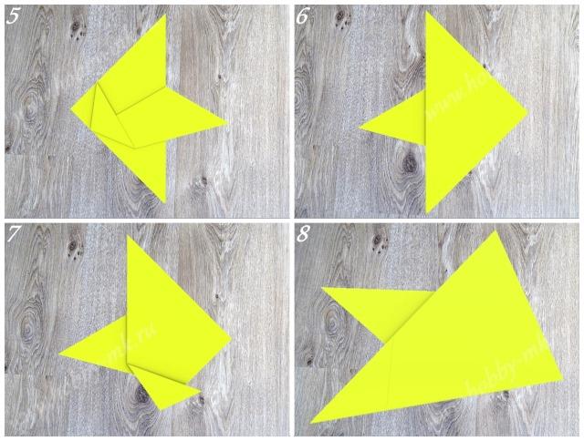 Как сделать курицу оригами ч.2