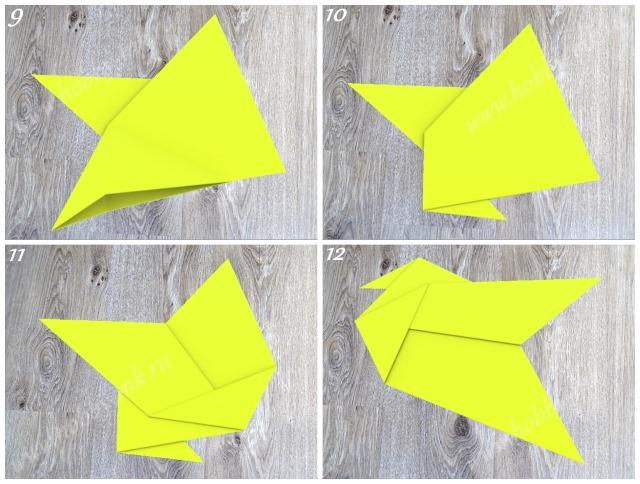 Как сделать курицу оригами ч.3