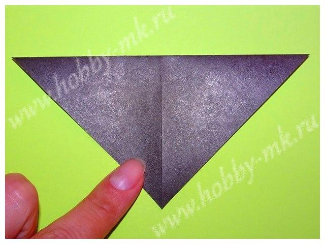 Разверните треугольник вершиной к себе.