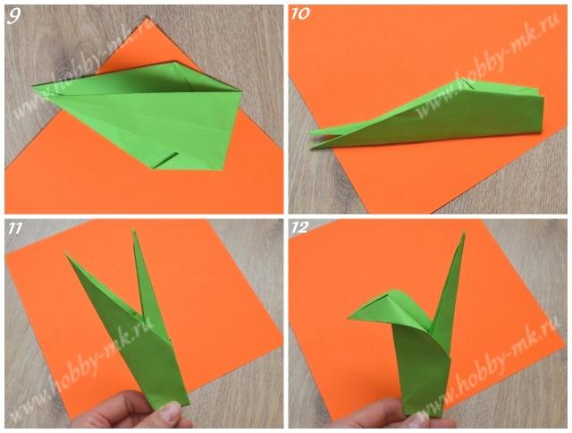 Как сделать листик к тюльпану оригами