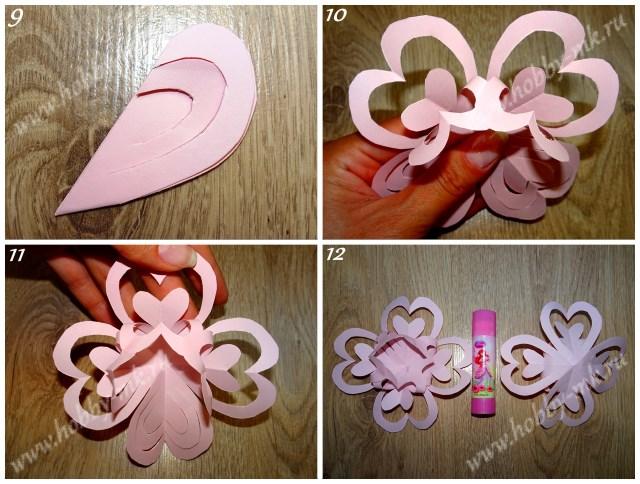Как сделать объемные снежинки из бумаги ч.3